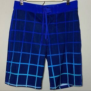 Old Navy Size 30x10 Board Swim Shorts Blue Teal